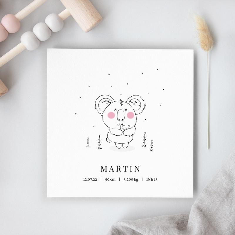 Faire-part de Naissance Petit Koala