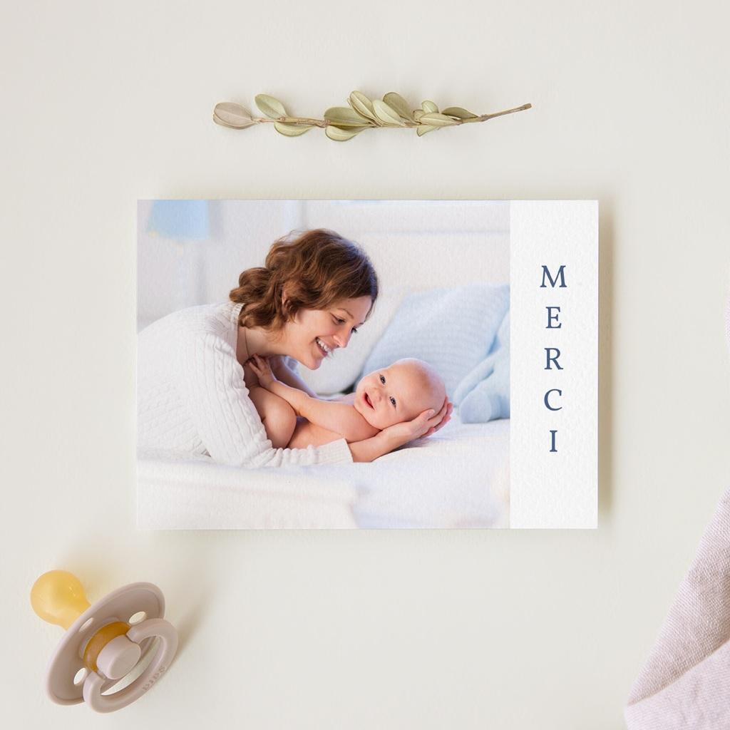 Carte de Remerciement Naissance P'tit Marin