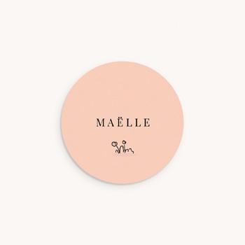 Sticker Enveloppe Naissance Petit écureuil original
