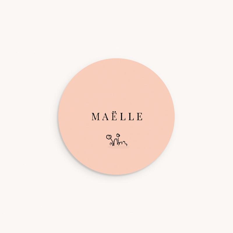 Sticker Enveloppe Naissance Petit écureuil