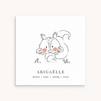 Faire-part de Naissance Petit écureuil original
