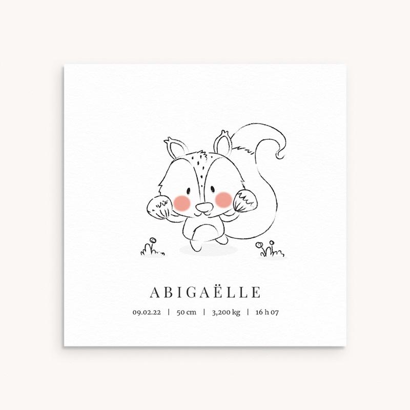 Faire-part de Naissance Petit écureuil