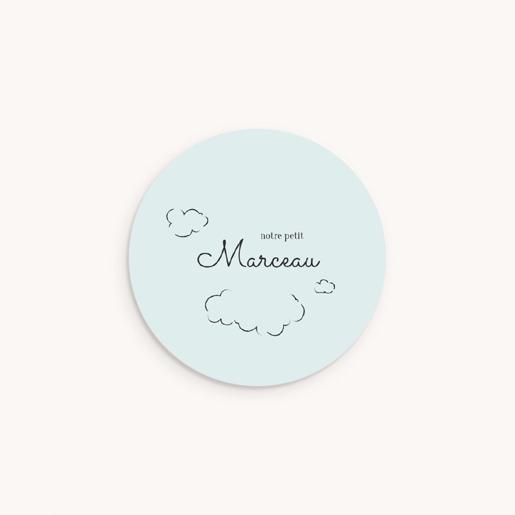 Sticker Enveloppe Naissance Petit mouton