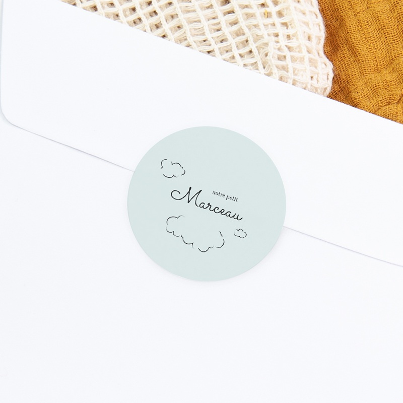Sticker Enveloppe Naissance Petit mouton gratuit