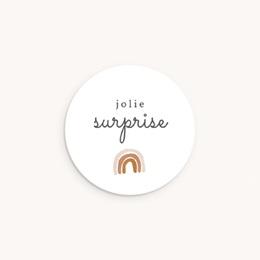 Sticker Enveloppe Naissance Couronne enchantée, arc en ciel