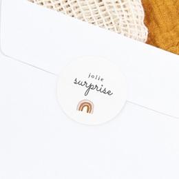 Sticker Enveloppe Naissance Couronne enchantée, arc en ciel gratuit