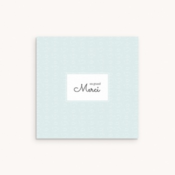 Carte de Remerciement Naissance Petit mouton personnalisé