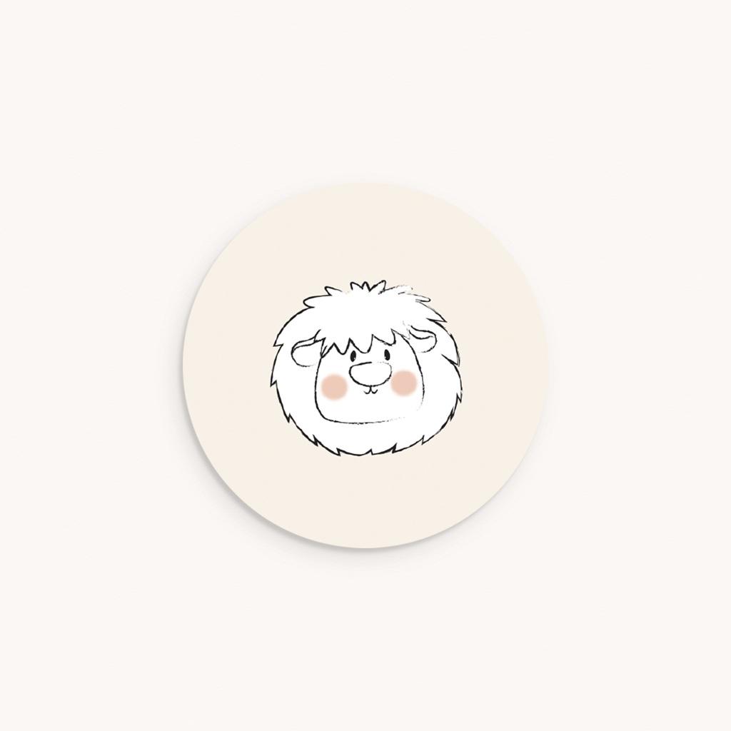 Sticker Enveloppe Naissance Petit Lion