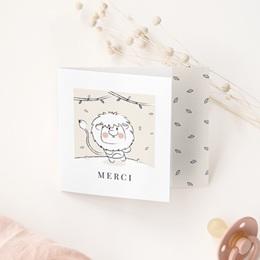 Carte de Remerciement Naissance Petit Lion gratuit
