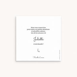 Carte de Remerciement Naissance Petit lapin pas cher