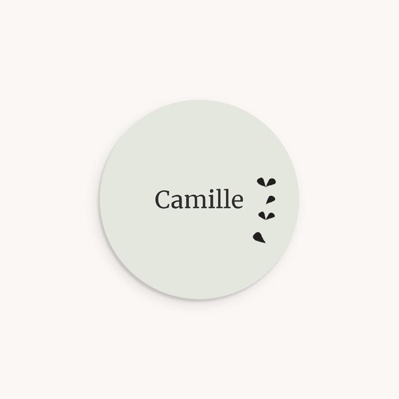 Sticker Enveloppe Naissance Petit renard oiseau