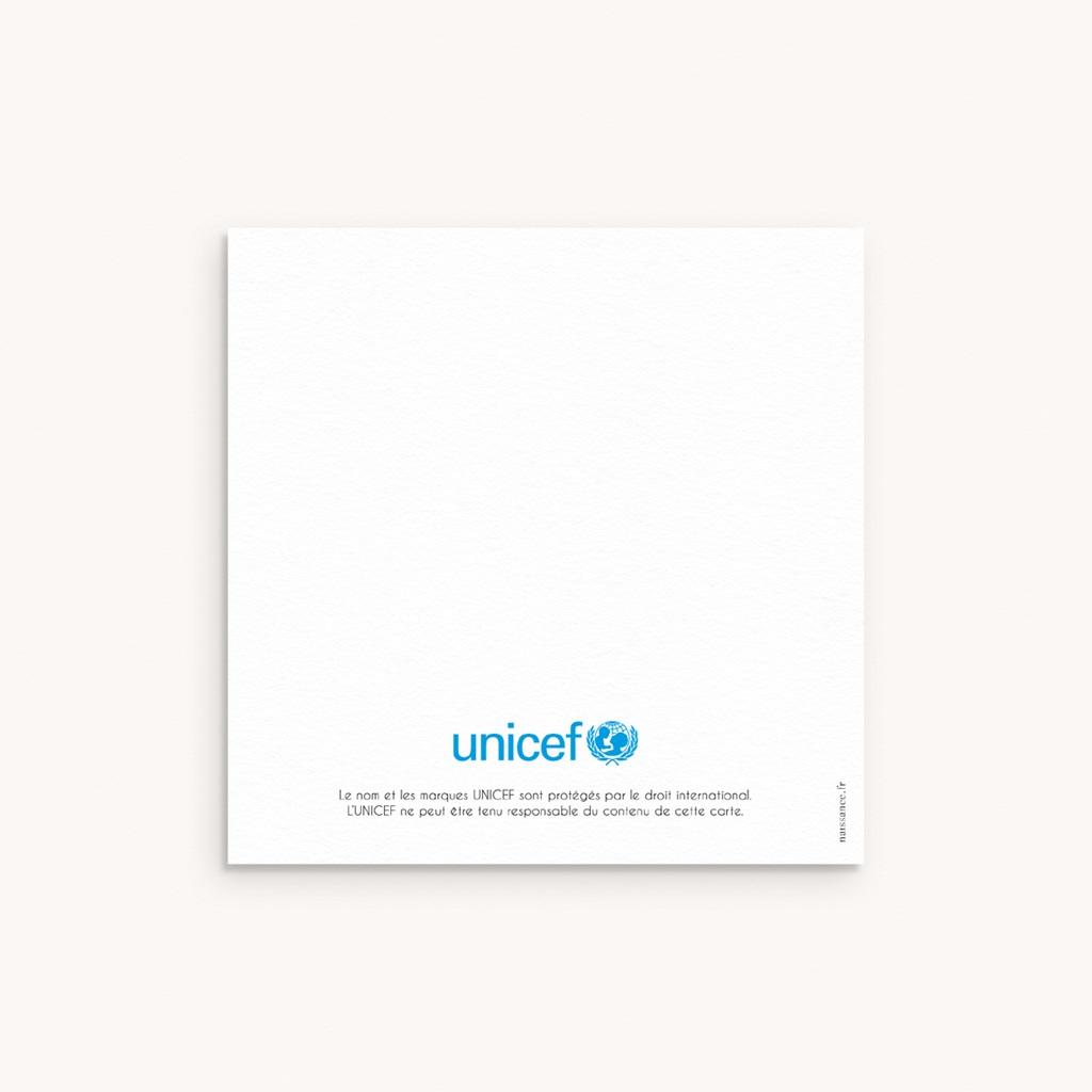 Carte de Remerciement Naissance Lapin Coucou, 10 x 10 cm pas cher