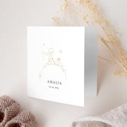 Faire-part de Naissance La rose dorée du Petit Prince gratuit
