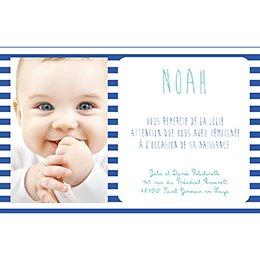 Carte de Remerciement Naissance Petit Mot de Marin pas cher