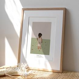 Affiche Déco Chambre Enfant Petit garçon d'Afrique
