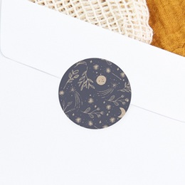 Sticker Enveloppe Naissance Hymne à la nature, bleu gris