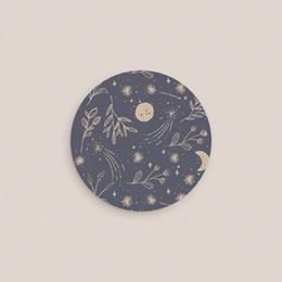 Sticker Enveloppe Naissance Hymne à la nature, bleu gris gratuit