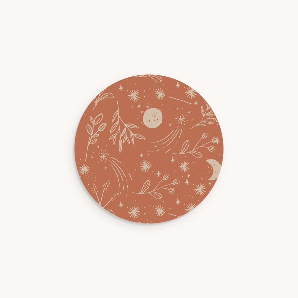Sticker Enveloppe Naissance Ode à la nature, 4,5 cm