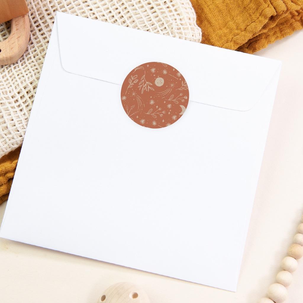 Sticker Enveloppe Naissance Ode à la nature, 4,5 cm pas cher