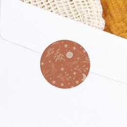 Sticker Enveloppe Naissance Ode à la nature, 4,5 cm gratuit