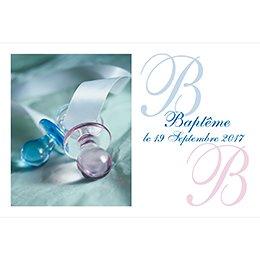 Faire-part de Baptême Tétines Baptême Garçon pas cher