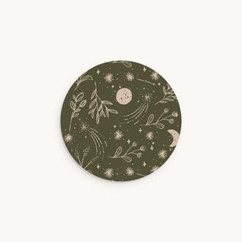 Sticker Enveloppe Naissance Chant de la nature, Vert Kaki personnalisé