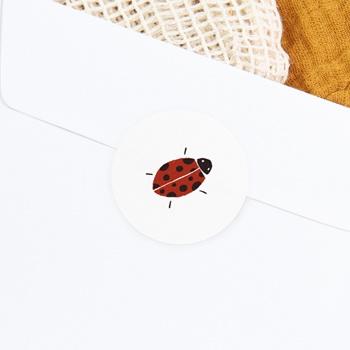 Sticker Enveloppe Naissance Lettres d'Amour, Printemps
