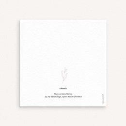 Faire-part de Naissance Couronne Monochrome Blanc