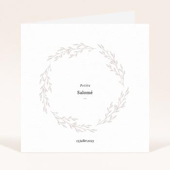 Faire-part de Naissance Petite Couronne, Blanc Monochrome pas cher