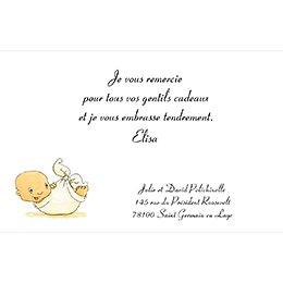 Carte de Remerciement Naissance La Cigogne bleu pas cher