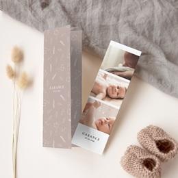 Faire-part de Naissance Champêtre Liberty nude, 2 en 1 gratuit
