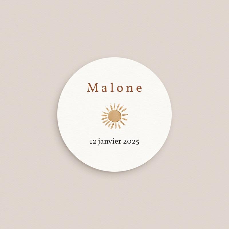 Sticker Enveloppe Naissance Trio de formes, prénom garçon, Sticker gratuit