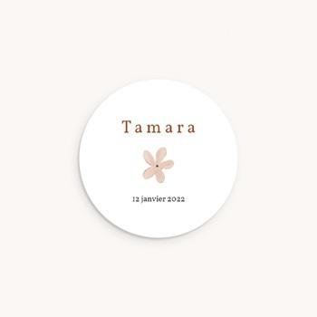 Sticker Enveloppe Naissance Trio de formes, prénom fille, Sticker