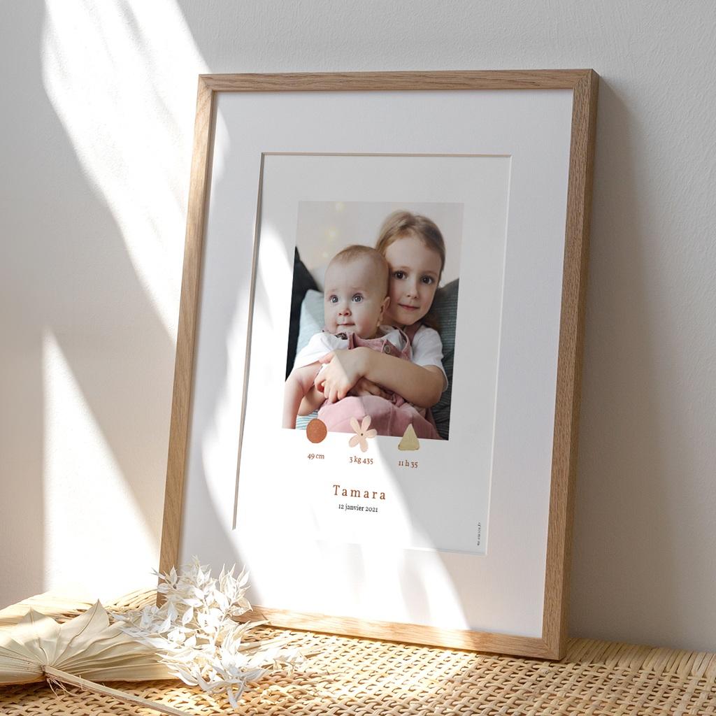 Affiche Déco Chambre Enfant Trio de formes, photo, 30 x 40