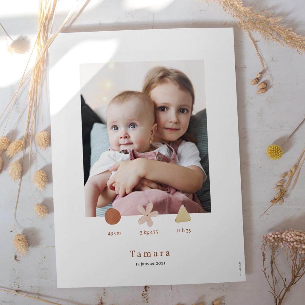 Affiche Déco Chambre Enfant Trio de formes, photo, 30 x 40 gratuit