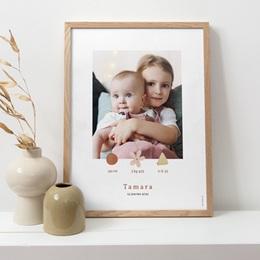 Affiche Déco Chambre Enfant Trio de formes, photo, 30 x 40 pas cher
