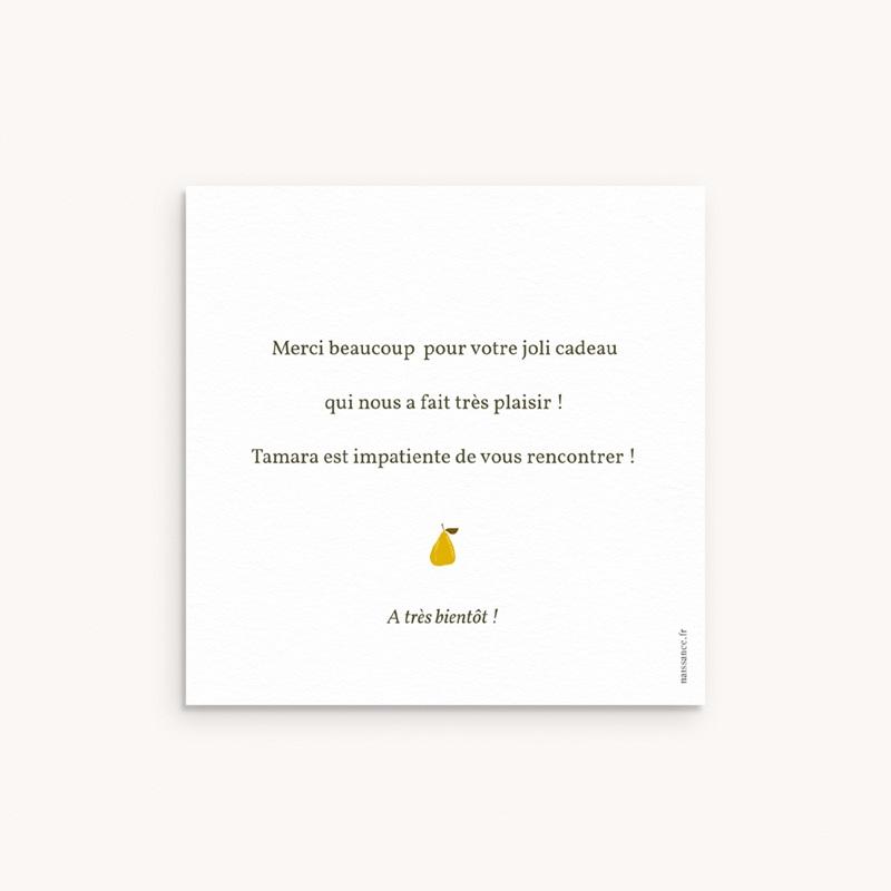 Carte de Remerciement Naissance Couronne d'oranges, 10 x 10 pas cher
