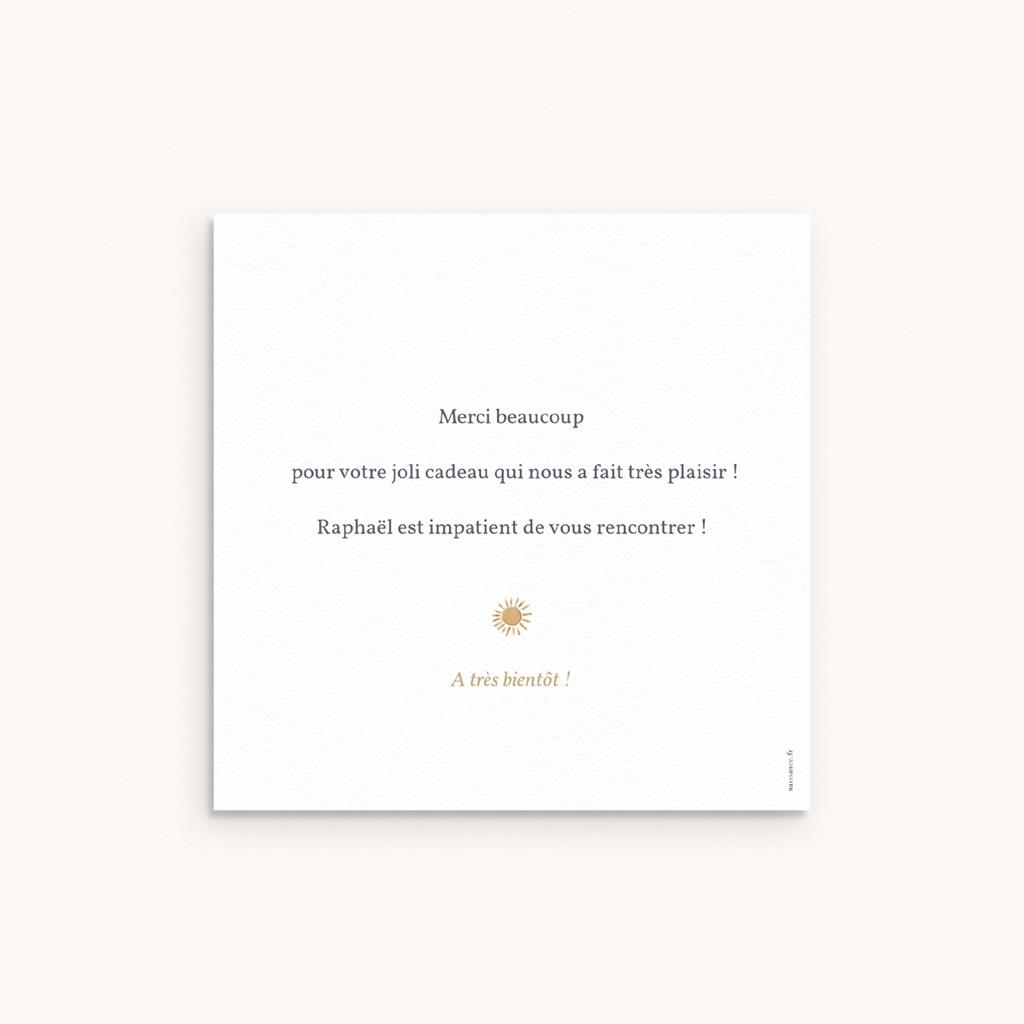 Carte de Remerciement Naissance Univers ensoleillé, 10 x 10 pas cher