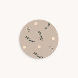 Sticker Enveloppe Naissance Liberty beige, Sticker à motif floral