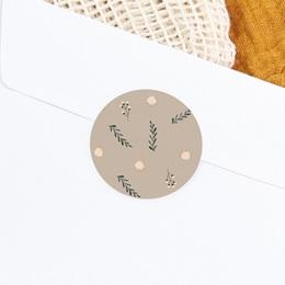 Sticker Enveloppe Naissance Liberty beige, Sticker à motif floral gratuit