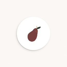 Sticker Enveloppe Naissance Poire d'Automne, sticker 4,5 cm