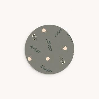 Sticker Enveloppe Naissance Liberty Kaki, sticker motif floral personnalisé