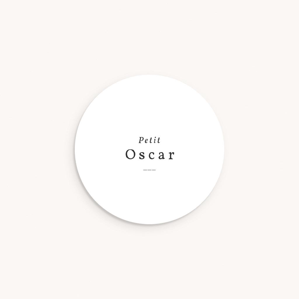 Sticker Enveloppe Naissance Couronne Monochrome Blanc, sticker