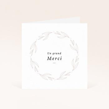 Carte de Remerciement Naissance Couronne Monochrome Blanc, 9,5 x 9,5 original