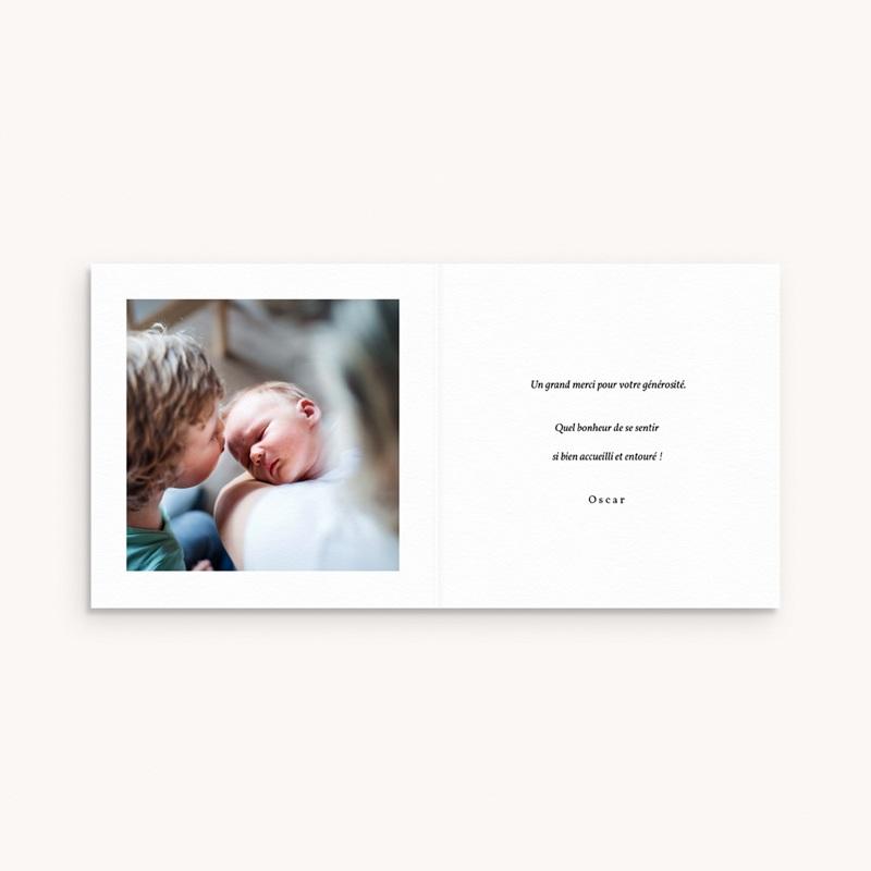 Carte de Remerciement Naissance Couronne Monochrome Blanc, 9,5 x 9,5 pas cher