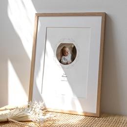 Affiche Déco Chambre Enfant Couronne Monochrome Blanc, Photo