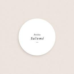 Sticker Enveloppe Naissance Petite Couronne, Blanc Monochrome, sticker gratuit