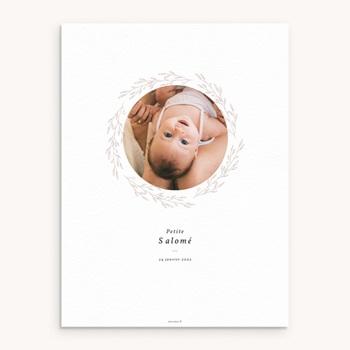 Affiche Déco Chambre Enfant Petite Couronne, Blanc Monochrome, 30 x 40 original