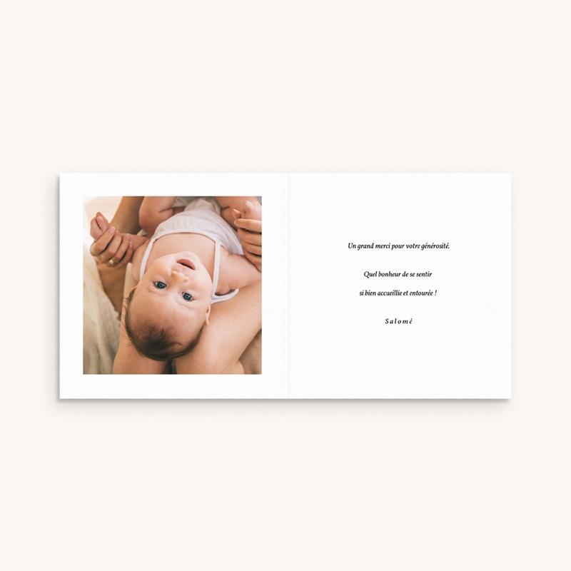 Carte de Remerciement Naissance Petite couronne fond blanc, 9,5 x 9,5 pas cher