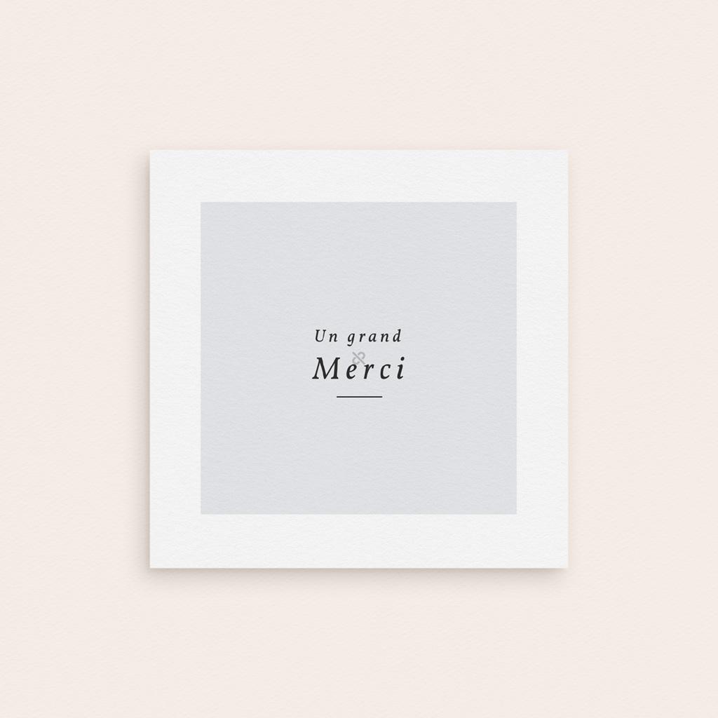 Carte de Remerciement Naissance Petite couronne fond blanc, 9,5 x 9,5